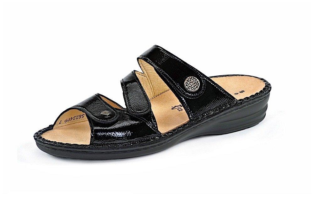 47cbbc649d8a21 Finn Comfort LAZISE schwarz Pantolette mit Klettverschluss