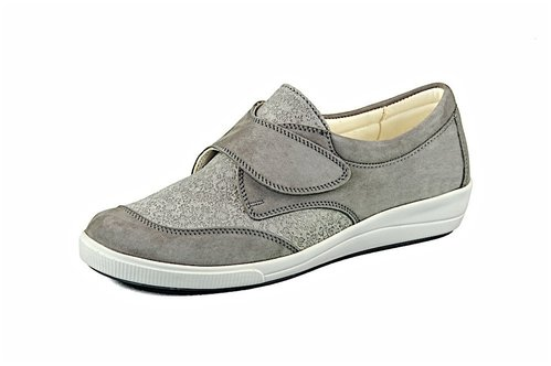 Slipper Locarno grey-taupe